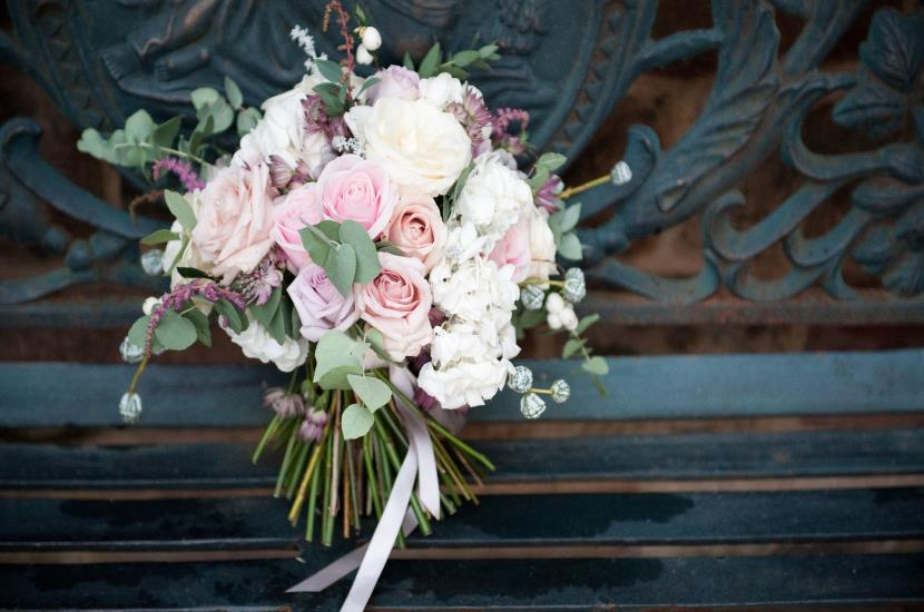 Professional photograph of wedding flowers